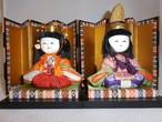 木目込みお内裏様 Hina dolls(two dolls)(No1)