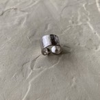 Silver.950 broad pinky ring