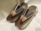 格子柄古布鼻緒ぞうり(Lサイズ) Japanese shoes (No2)