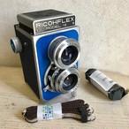 リメイクカメラ RICOHFLEX VII(ブルー•ネイビーブルー)(グレー塗装)