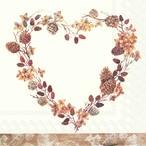 【IHR】バラ売り2枚 ランチサイズ ペーパーナプキン FEEL COSY ブラウン