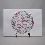 bloomingフラワー 紙袋(青/赤)