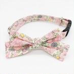 猫 首輪 柔らかい ピンク 花柄 小さいリボン リバティプリント×Betsy Ann【cat_s2011】