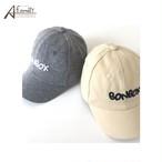 0052 キッズ 韓国子供服 キッズ キャップ  帽子 男の子 女の子 ロゴ CAP ハット グレー アイボリー
