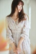 In Bloom Pleated Chiffon Dress