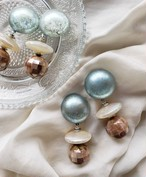 pale blue × pearly ivory × mosaic shell (brown)  《再販なし》
