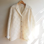 70s U.S.A. vintage off-white lace jacket