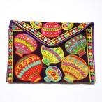ミラーワーク刺繍クラッチ(バルーン)
