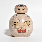 えじここけし(ネコ) 約2.5寸 約8cm 林貴俊 工人(石巻こけし)#0065