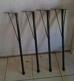 アイアンレッグ DIY素材テーブル脚 傾斜タイプ4本セット鉄足 (L)