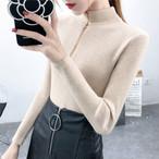 【tops】ファスナー飾り活躍注目されるセーター25714525