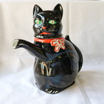 1950年代 猫 ポット 黒猫 ドイツ ヴィンテージ 陶器 ブロカント