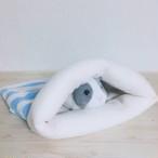 もるちゃんのぽっこり寝袋(ボーダー)