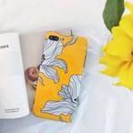 大人女子にぴったり☆ホワイトリリーのイエローケースデザイン(SPCa0215)◆iPhoneケース/スマホケース