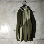 [used] green switching shirt