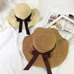 麦わら帽子 シンプル 手編み風♪