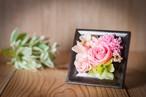 【母の日ギフト・プレゼント】プリザーブドフラワー-バースローズ- ピンク〈花:カーネーション・バラ〉