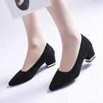 【shoes】パンプス無地チャンキーヒール履き心地よい通勤