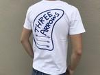 THREEARROWSフィン ポケット付きTシャツ(white)