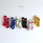 キッズ~ジュニア【DIGREEN】YES/NOソックス 靴下 6色SET 1才-9才