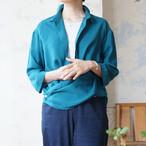 コトリ刺繍・テンセルローン8分袖シャツ *プラネード