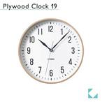 KATOMOKU plywood clock 19 km-111NA ナチュラル
