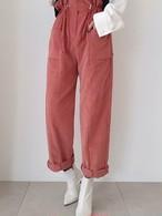 コーデュロイハイウェストストゥリングパンツ コーデュロイパンツ 韓国ファッション