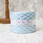 §koko§ 空~いつもそこにある~ 1玉45g フェザー 水色 引き揃え糸 毛糸  オリジナ糸