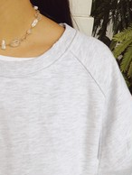 Pearl × Clear Mix Necklace