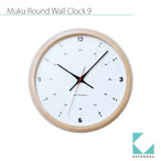 KATOMOKU muku round wall clock 9 km-82N