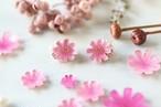 秋の花、コスモスとbijouのピアス/イヤリング