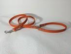 オレンジ革リード アウトレット商品!格安♪カフェスタイル 小型犬用 135cm 85cm