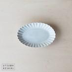 [松尾 直樹]輪花楕円鉢 S(OP釉)