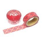 紬POPマスキングテープ|龍郷柄1|レッド