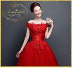 ロングドレス 結婚式 二次会 真紅 赤 キャバクラ ホステス オーガンジー 花刺繍
