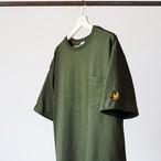 ワイドシルエット SK8 YETI Tシャツ カーキ
