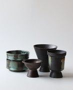 ブラックな植木鉢セット 陶器祭りスペシャルパック