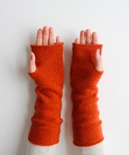 手編み機で編んだカシミヤセーブルアームウォーマー(CAA-010)7色