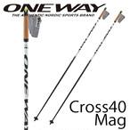 130cm~165cm ONE WAY クロスカントリーポール DIAMOND CROSS 40 MAG スキーマラソン用 ow20325