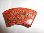 鎌倉彫松帯留 Kamakura carving Obi sash clip (pine)