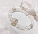 クラック水晶 pearl bracelet♡