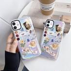 Aurora angel flower art iphone case