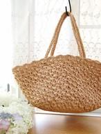 [編み図]クロス模様のかごバッグ