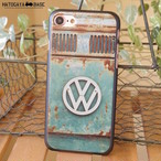 iPhone7/7Plus/SEケース RUSTY VW Late BUS GREEN