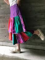 Jeanne Marc multi color cotton skirt ( ジェーン マーク マルチカラー コットン スカート )