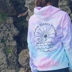 OKINAWAN BEACH Tie dye Nami Rainbow & Spider Hoodie