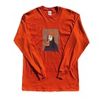 Pizza Girl L/S Tee(ORANGE)