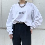 "CaNARi original long sleeve tee "" HOPE """