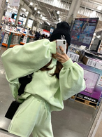 ベーシックスウェットセットアップ セットアップ 韓国ファッション