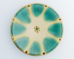 7寸皿 (緑釉) ノモ陶器
